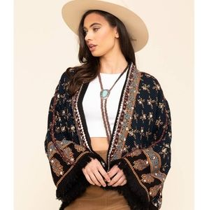 Free People Rays of Light Boho Jacket Sz XS